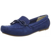 Clarks Women's Natala Rio Dark Blue Nubuck Leather Loafers and Moccasins - 3.5 UK/India (36 EU)