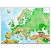 Georelief Harta in relief 3D a Europei, mare (in germana)