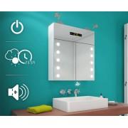 Artforma Spiegelkast met LED-verlichting L06 Alpine wit 40x40