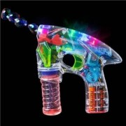 TRIBALSENSATION Transparent LED light BUBBLE GUN | Kids Birthday Bubble Gun for Childr