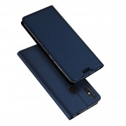 DUX DUCIS Skin Pro Series Card Holder Stand Leather Protective Shell for Xiaomi Mi Max 3 - Dark Blue