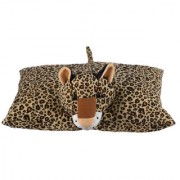Ultra Folding Pillow Leopard 17x13 Inches - Brown