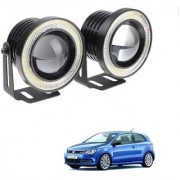 Auto Addict 3.5 High Power Led Projector Fog Light Cob with White Angel Eye Ring 15W Set of 2 For Volkswagen Polo GT
