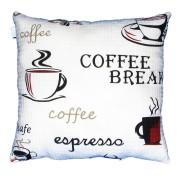 Perna decorativa mare cu imprimeu cafea