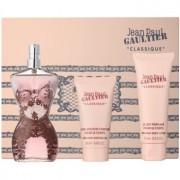 Jean Paul Gaultier Classique coffret VIII. Eau de Parfum 100 ml + leite corporal 75 ml + gel de duche 50 ml