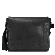 Strellson Upminster Messenger Leder 39 cm Laptopfach black