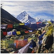3dRose db_132859_2 Prayer Flags Everest Base Camp Ama Dablam Nepal As26 Dny0022 David Noyes Memory Book 12 by 12-Inch