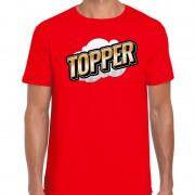 Bellatio Decorations Topper fun tekst t-shirt voor heren rood in 3D effect