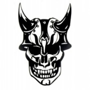 Adesivo Skull 002 - Nero