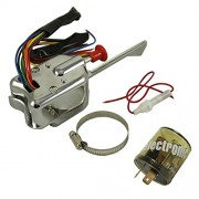 AST Works Car Chrome 12V Universal Street Hot Rod Turn Signal Switch w/Flasher for Ford GM
