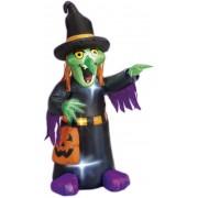 Bruja Hinchable Luminosa Halloween 122 cms