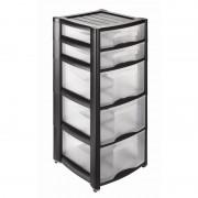 Heidrun Professional 3+2 fiókos műanyag tároló görgőkkel - 1533