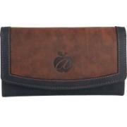 Myredapple Women Black, Brown Genuine Leather Wallet(14 Card Slots)