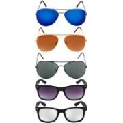 NuVew Aviator, Wayfarer Sunglasses(Brown, Green, Blue, Silver, Violet)