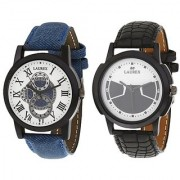Laurex Analog Round Casual Wear Watches for Men Combo-LX-003-LX-014