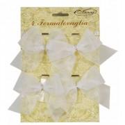 Merkloos Klemmetjes met strik voor tafelkleed 4 stuks