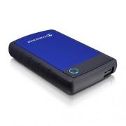 HDD External 1TB TRANSCEND, TS1TSJ25H3B, USB 3.0, 284g, 2.5″, gumiran, plavo-crni