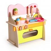 Bucatarie din lemn - joc de rol pentru copii