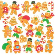 Gingerbread Foam Stickers (Pack of 120)