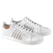 Allan K Flechtleder-Sneakers, 37 - Weiss