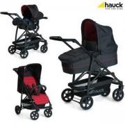 Бебешка комбинирана количка 3 в 1 - Rapid 4 Plus Trio Set Caviar Tango, Hauck, 149546