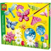 Детски комплект Направи си сам отливки на Пеперуди с брокат, SES, 080637