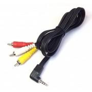 CABLE A/V JACK 4 CONTACTOS A 3 RCA MACHOS 1.5m