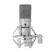 Auna MIC-900S Micrófono condensador estudio USB Plateado