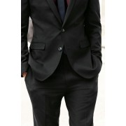 Mens Next Slim Fit Suit Trousers - Black