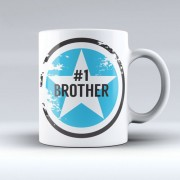 Grabadeal Beautiful White Number One Brother Ever Coffee Mug Gift for Raksha Bandhan