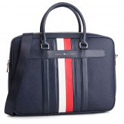 Geantă pentru laptop TOMMY HILFIGER - Elevated Leather Comuputer Bag AM0AM04462 002