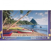 Puzzlebug 500 Piece Puzzle -- Fishing Boats At Soufriere St. Lucia Caribbean