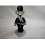 """World of Miniature Bears 3.5"""" Plush Bear Nurcracker #699 Collectible Miniature Made by Hand"""