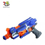ToyzIsland Exclusive High Quality Super Hero HIGH Speed NERF Style Gun with 20 Soft Dart WITHLASER Music Battery OPPERATED