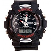 3iVision Round Dail Black Rubber StrapMens Automatic Watch For Men