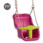 LEAGAN BABY SEAT LUXE KBT PURPLE LIME GREEN