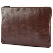 Lucleon Housse California en cuir marron pour ordinateur portable