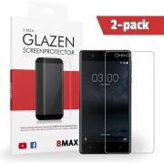 2-pack BMAX Nokia 3 Glazen Screenprotector Full Cover 3D Dekt afgeronde schermranden volledig Beschermglas Tempered Glass