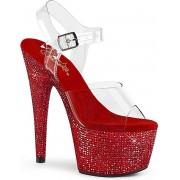 Pleaser Hoge hakken -38 Shoes- BEJEWELED-708DM US 8 Rood