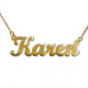 Personalized Men's Jewelry 14K Gold Script Style Name Necklace 101-01-076-01
