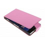 Roze classic flipcase voor de Sony Xperia Z3
