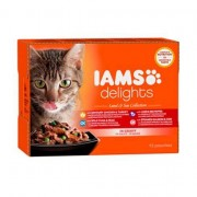 Iams Delights Land and Sea Collection in Gravy Adult Cat Food 12x85g