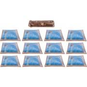 Annapurna Sales Designer Front Transparent Single Saree Cover and Churi/Bangles Case - Set of 13 Pcs. Golden00396(Golden)