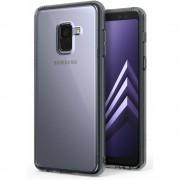 Husa Samsung Galaxy A8 Plus 2018 Ringke SMOKE BLACK+ BONUS folie protectie display Ringke