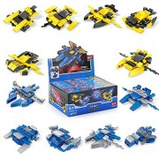 Space War Battle Vehicle Ball 12 in 1 Mini Building Blocks Convertible to Lego for Boys Transformer DIY Party Gift Toys 12 Styles F-116