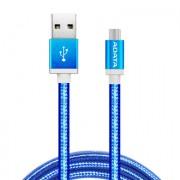 Cable Micro USB de 1m y 2.4A azul, Adata AMUCAL-100CMK-CBL