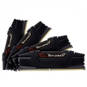 Memorie G.Skill Ripjaws V Classic Black 64GB (4x16GB) DDR4 3200MHz CL14 1.35V Dual Channel, Quad Kit, F4-3200C14Q-64GVK