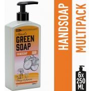 Marcel's Green Soap Handzeep Sinaasappel & Jasmijn - 6 x 250 ml