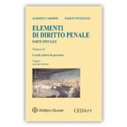 Elementi di diritto penale - Parte Speciale Vol. II: I reati contro la persona - Tomo I, Veneziani, Cedam, 2017, Libri, Diritto penale e processuale