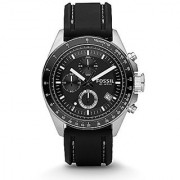 Fossil Decker Chronograph Black Dial Mens Watch - Ch2573